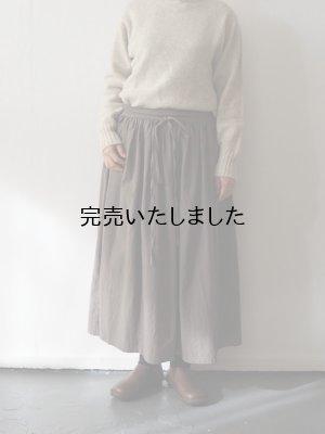 画像1: AU GARCONS(オーギャルソン) SARA-巻きスカート- カーキベージュ
