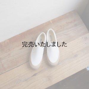 画像1: ASAHI(アサヒ) DECK-デッキシューズ(スリッポン)-レディース ホワイト / ベージュ