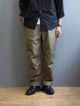 Blurhms(ブラームス)Reversed Satin Sailor Pants ベージュ