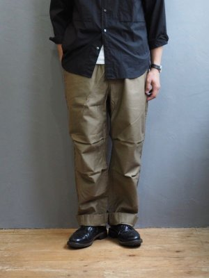 画像1: Blurhms(ブラームス)Reversed Satin Sailor Pants ベージュ