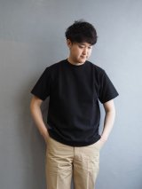 Blurhms(ブラームス) ROOTSTOCK Rough & Smooth Thermal Regular Fit S/S ブラック
