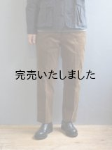 ENDS and MEANS(エンズアンドミーンズ) Standard Grandpa Cord Trousers-コーデュロイパンツ-ブラウンベージュ