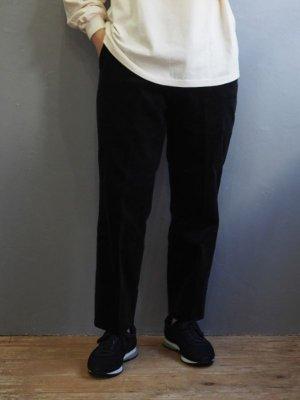 画像1: ENDS and MEANS(エンズアンドミーンズ) Standard Grandpa Cord Trousers-コーデュロイパンツ-ブラック