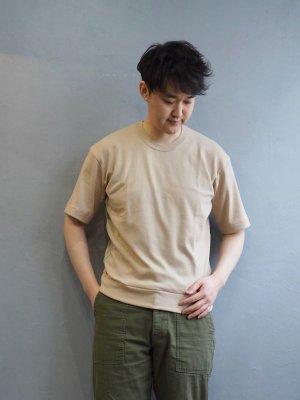 画像1: Gicipi(ジチピ) G.LARGO 1/2-コットンクルーネックリブワイドフィットTシャツ ベージュ