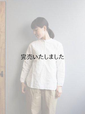 画像1: 【再入荷】jujudhau(ズーズーダウ) 12BUTTON-12ボタン-LINEN COTTON WHITE