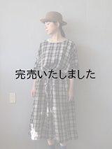 jujudhau(ズーズーダウ) KINCHAKU DRESS-キンチャクドレス- リネンタータン