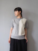 Nigel Cabourn Woman(ナイジェルケボーンウーマン) Army Crew Jersey Mix(Short Sleeve) グレー