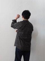 POSTALCO(ポスタルコ) Free Arm Shirts 01-フリーアームシャツ-プラッド チャコール